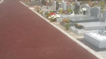 Réfections des allées du cimetière communal